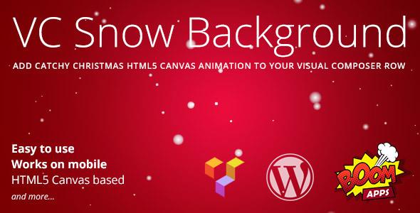 Wordpress Add-On Plugin VC Snow Background
