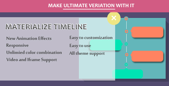 Wordpress Add-On Plugin Visual Composer - Materialize Timeline