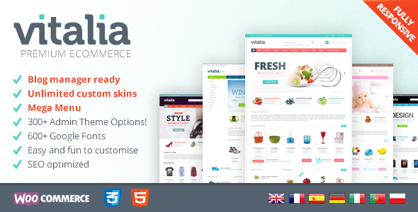 Wordpress Shop Template Vitalia - Multipurpose WooCommerce Theme