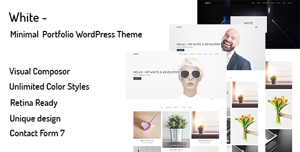 Wordpress Kreativ Template White – Minimal Portfolio WordPress Theme