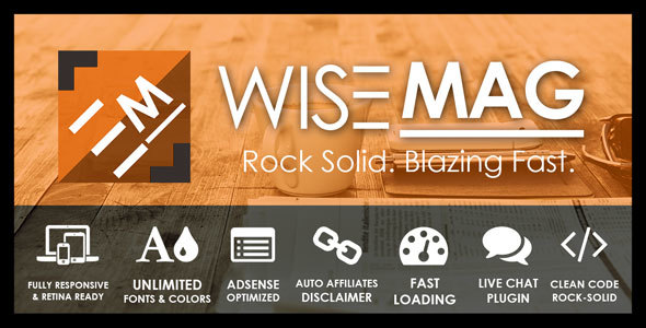 Wordpress Blog Template Wise Mag – The Wisest AD Optimized Magazine Blog WordPress Theme