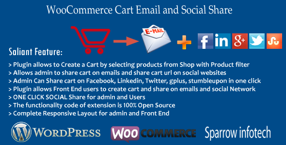 Wordpress E-Commerce Plugin WooCommerce Cart Email and Social Share