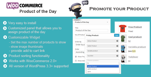 Wordpress E-Commerce Plugin WooCommerce Product of the Day