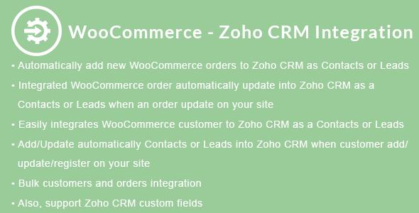 Wordpress E-Commerce Plugin WooCommerce - Zoho CRM Integration