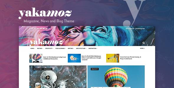 Wordpress Blog Template Yakamoz - Magazine, News and Blog WordPress Theme