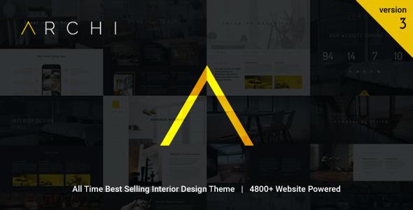 Archi - Interior Design WordPress Layout - Portfolio Creative