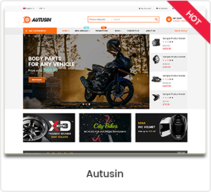 Autusin - Autoteile & Autozubehör Shop WordPress WooCommerce Template