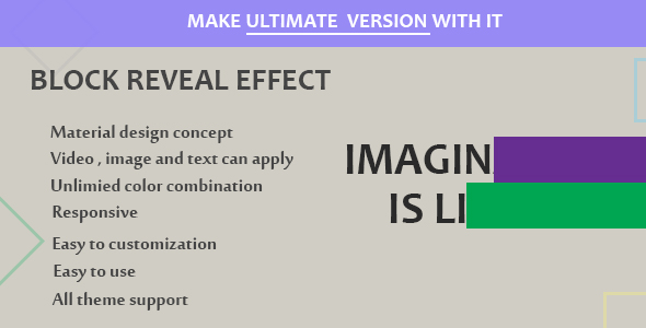 Visual Composer - Block Reveal Effects - CodeCanyon Artikel zum Verkauf