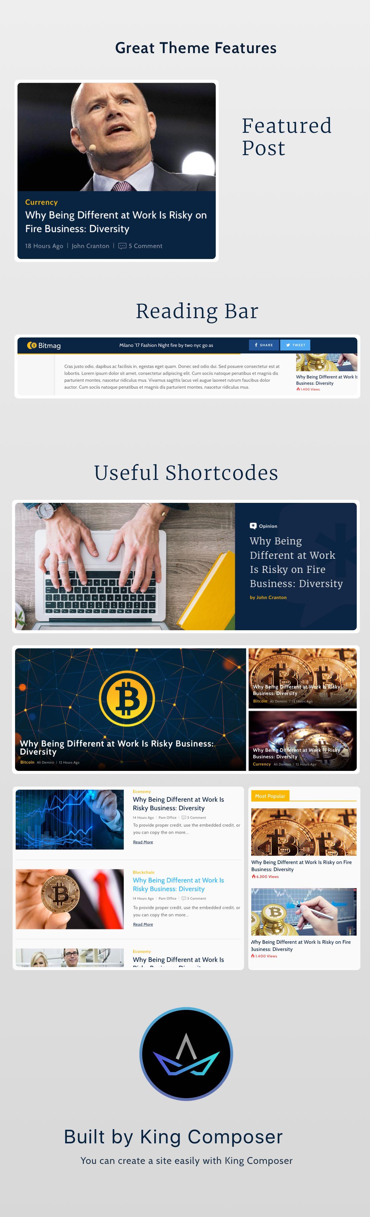 Coinmag - CryptoCurrency Blog WordPress Vorlage - 2