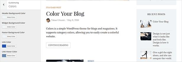 Farben - Einfaches Blog & Magazine WordPress Vorlage - 10