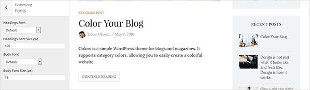 Farben - Einfaches Blog & WordPress Vorlage - 9