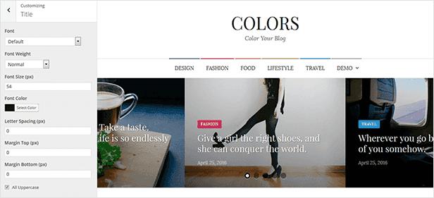 Farben - Einfaches Blog & Magazin WordPress Vorlage - 12