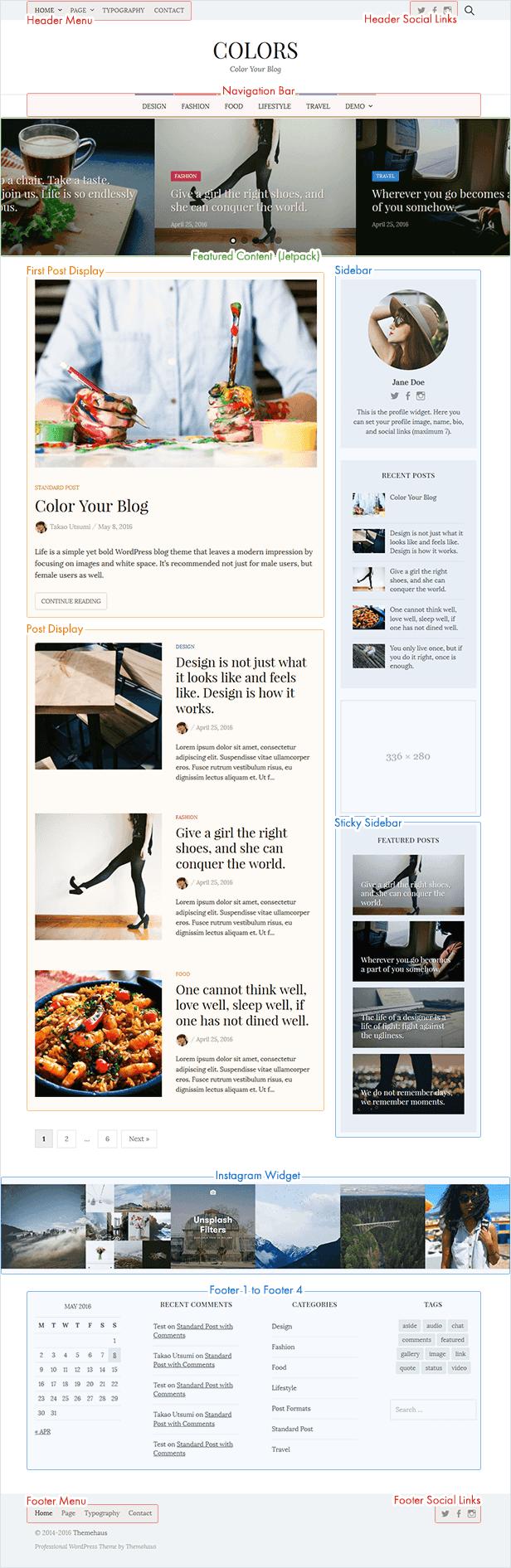 Farben - Einfaches Blog & Magazin WordPress Vorlage - 3