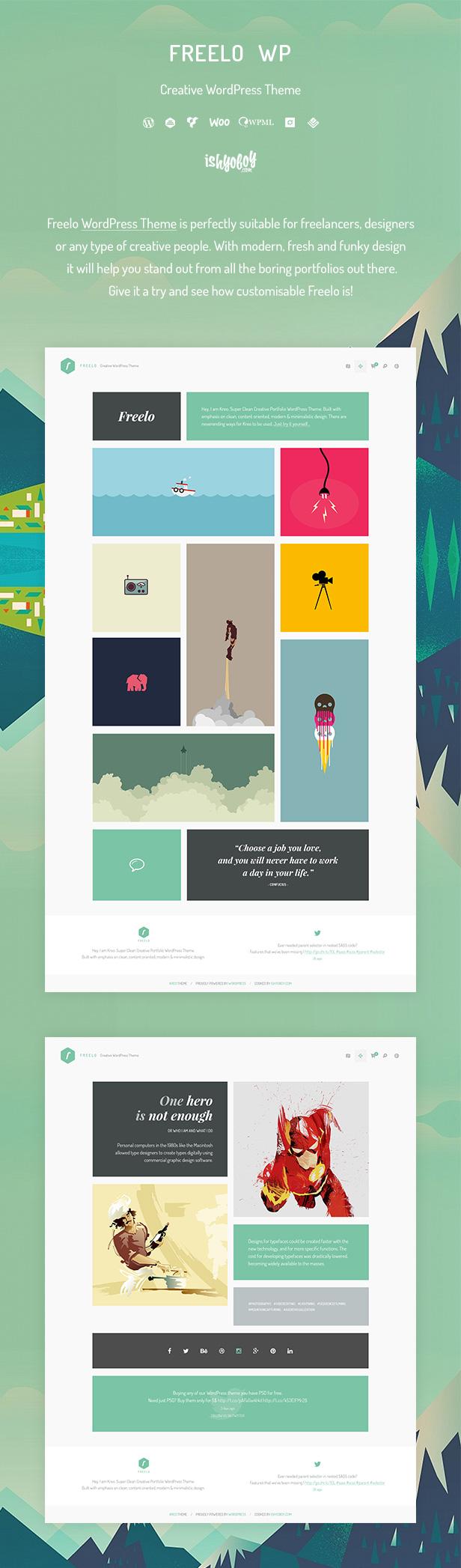 IshYoBoy | Freelo - Kreatives WordPress-Template