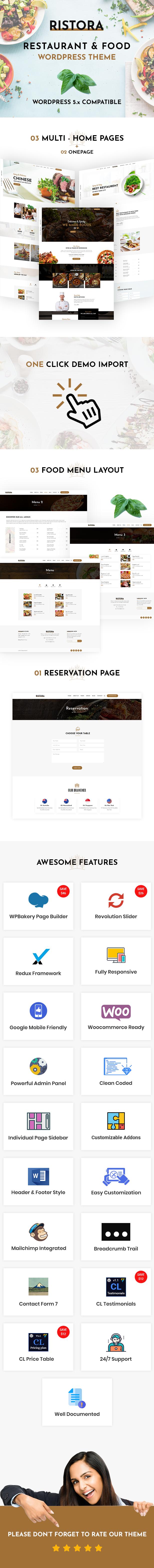 Ristora - WordPress-Layout für Restaurants und Essen