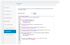Benutzerdefinierte CSS