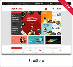 EtroStore - Elektrogeschäft WooCommerce WordPress Layout