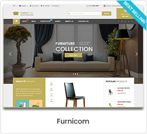 Furnicom - Möbelhaus & Interior Design WordPress WooCommerce Template