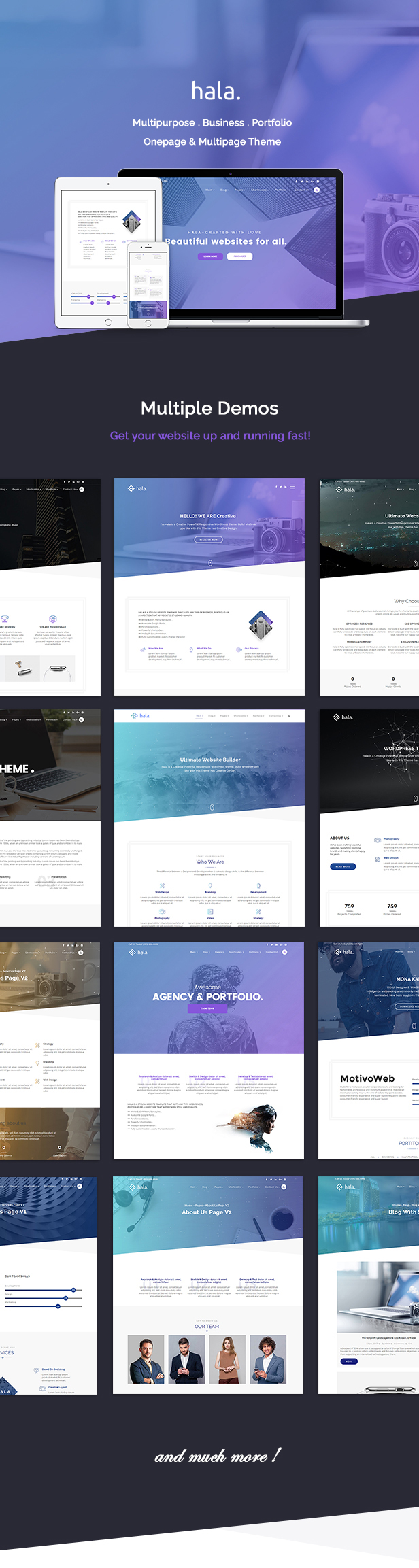 Hala Creative - Mehrzweck-WordPress-Template
