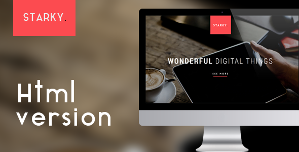 Starky - Responsive One Page Parallax Template - 2