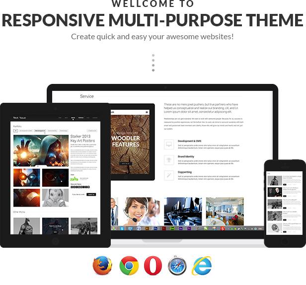Schwarz - Premium-Mehrzweck-WordPress-Vorlage - 2