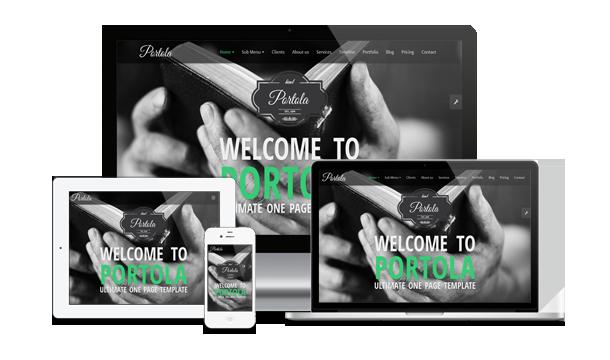 Portola WordPress Vorlage - 2