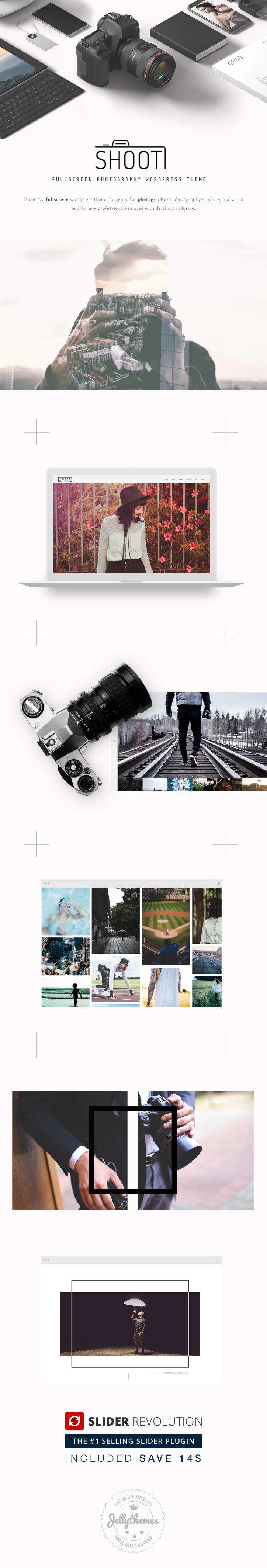 Shoot - Vollbild-Fotografie WordPress-Template - 1