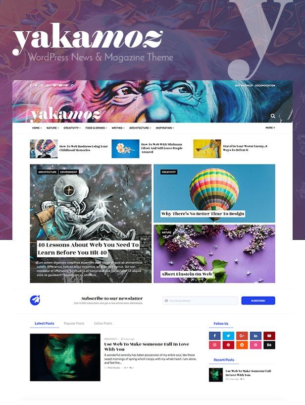 Yakamoz - WordPress Magazine News Vorlage