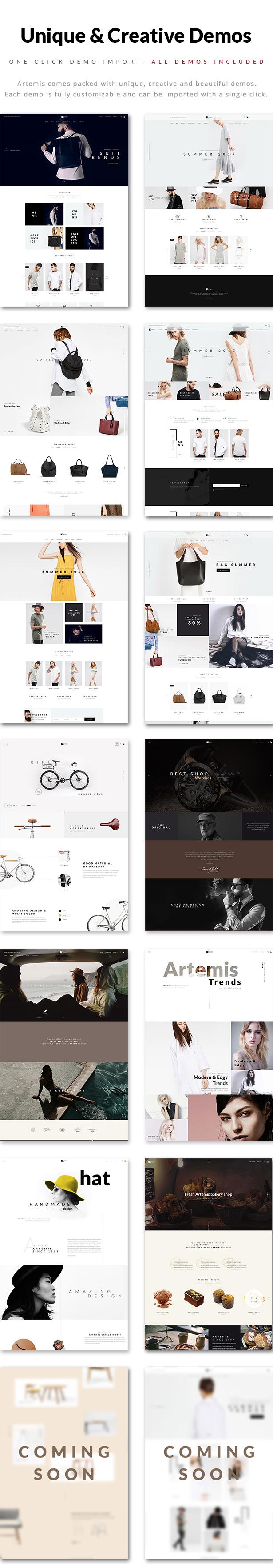 Artemis WooCommerce WordPress-Template-Demos
