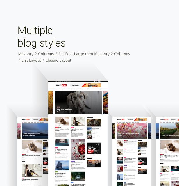 mehrere Blogstile