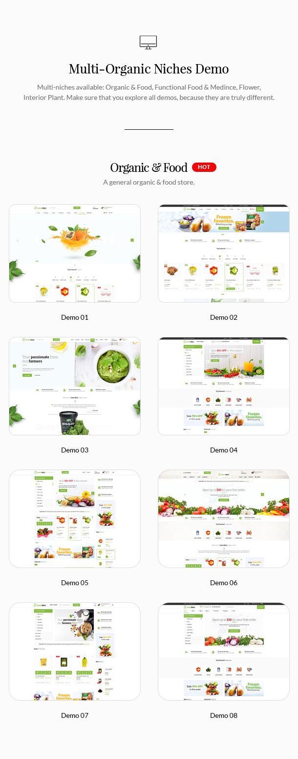 GreenMart - Bio & Lebensmittel WooCommerce WordPress Vorlage - 7