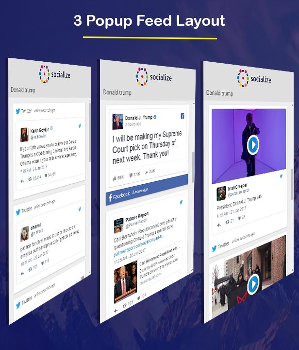 Visual Composer - Suchen Sie nach Social Stream
