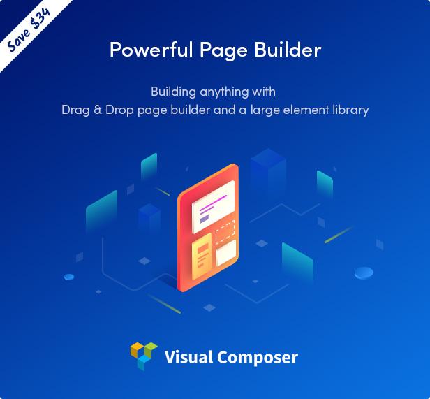 Nüchternes WordPress-Vorlage mit Visual Composer-Seitenerstellung