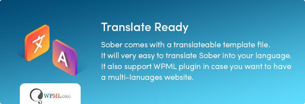 Nüchterne WordPress-Übersetzung fertig