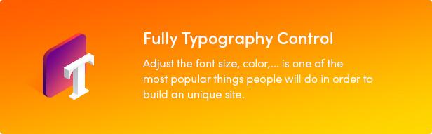 Nüchterne WordPress-Steuerung für vollständige Typografie