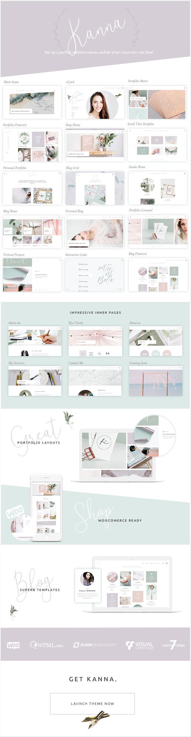 Kanna - Ein elegantes WordPress-Template mit vielen Konzepten - 1