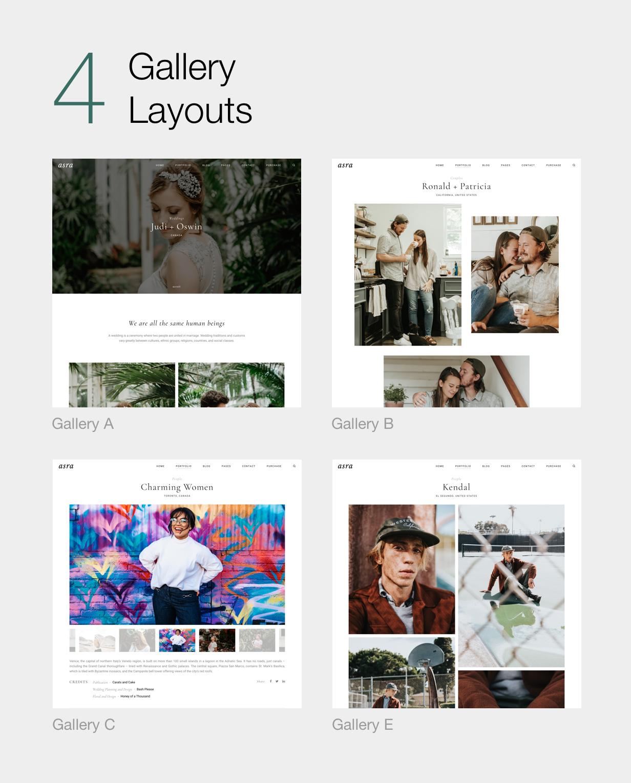 Asra - Minimalistisches Fotografie-Portfolio WordPress-Template - 8