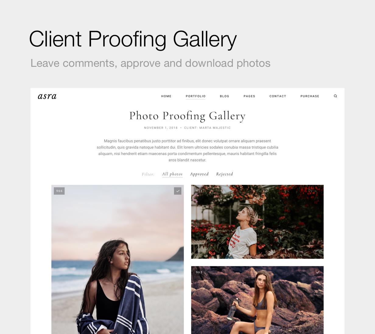 Asra - Minimalistisches Fotografie-Portfolio WordPress-Template - 13