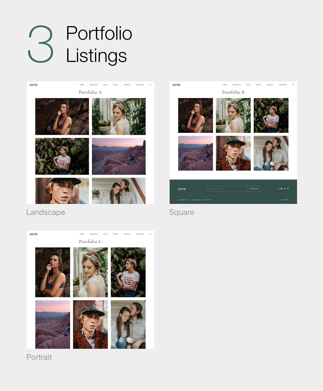 Asra - Minimalistisches Fotografie-Portfolio WordPress-Template - 10