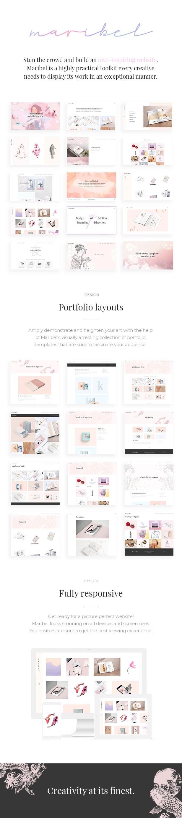 Maribel - Alluring Portfolio Layout für Kreative - 1