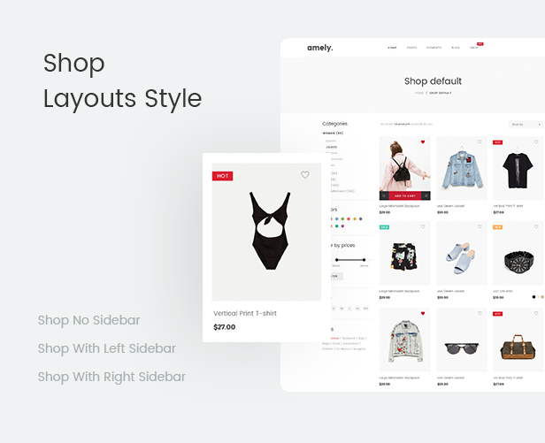 Mode WooCommerce WordPress Template - Shop-Layout-Stile