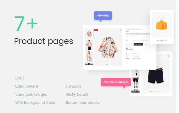 Fashion WooCommerce WordPress Template - 7+ Produktseiten