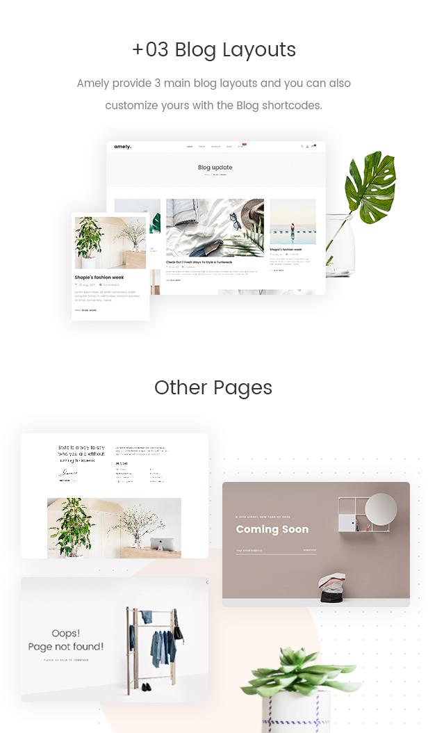 Mode WooCommerce WordPress Template - 3+ Blog-Layouts und andere Seiten