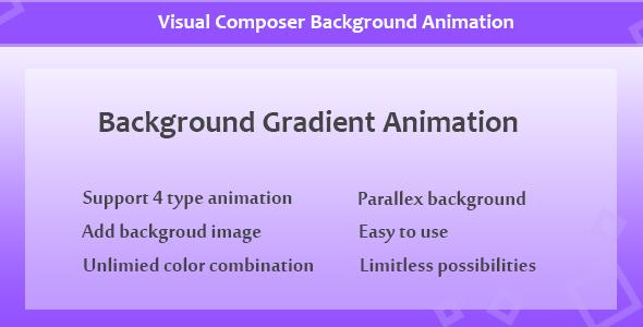 Visual Composer - Hintergrundanimation mit Farbverlauf - CodeCanyon Produkt zum Verkauf