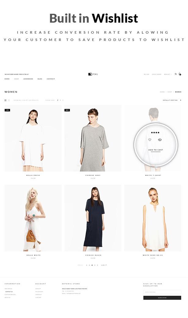 Artemis WooCommerce WordPress Template Shop-Layouts