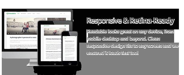 Lesbar - Blogging-WordPress-Layout mit Fokus auf Lesbarkeit - 1