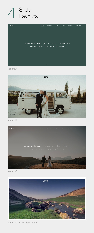 Asra - Minimalistisches Fotografie-Portfolio WordPress-Template - 6