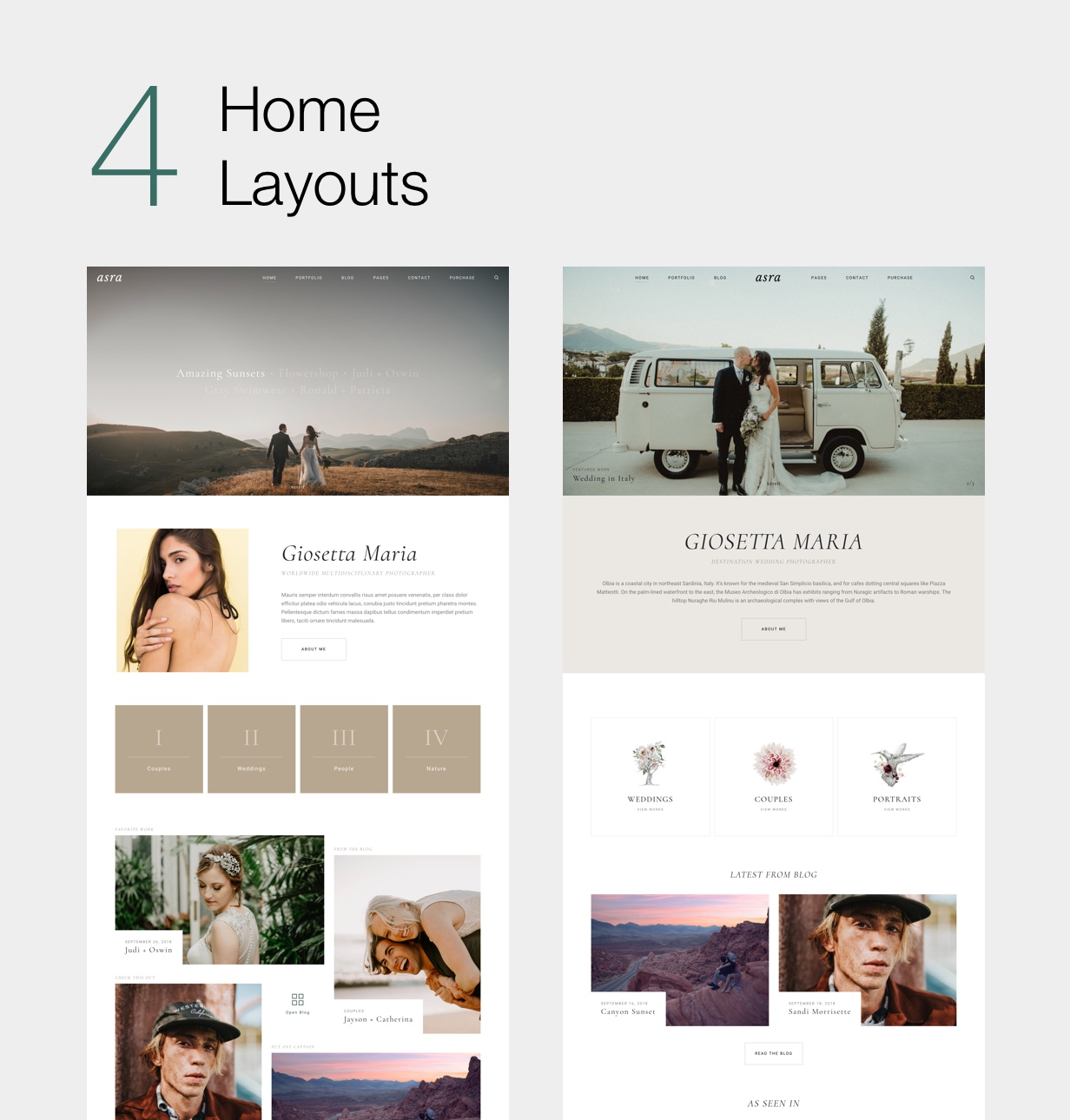 Asra - Minimalistisches Fotografieportfolio WordPress Template - 5