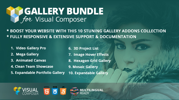 Wordpress Add-On Plugin Gallery Bundle Addons for WPBakery Page Builder (formerly Visual Composer)