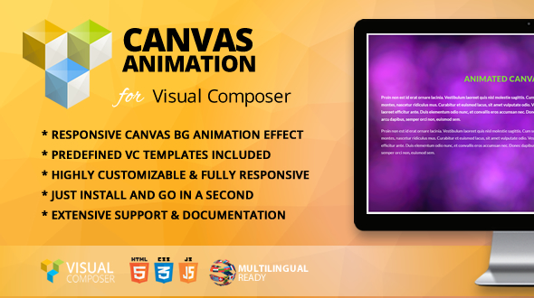 Wordpress Add-On Plugin Animated Canvas Addon for WPBakery Page Builder (formerly Visual Composer)